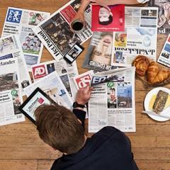 Ledenkorting op diverse dagbladen