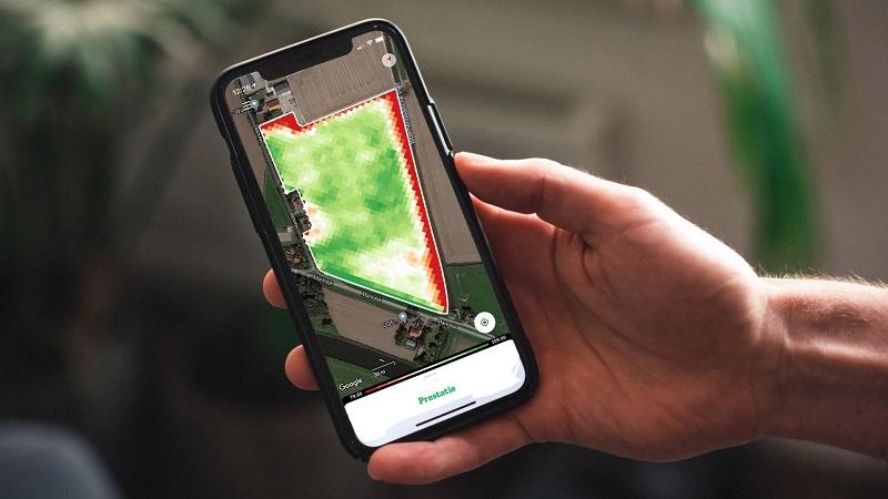 FieldScout-app toont de best presterende plekken van uw perceel